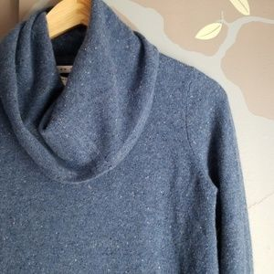 Cashmere cowl neck tunic sweater